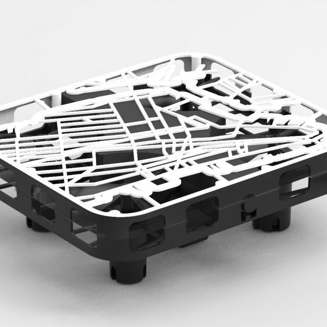 Souvenir map cage drone